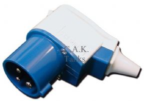 MAINS INLET 90deg BLUE CEE PLUG MAINS LEAD